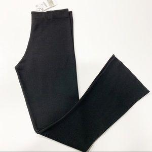 Zara Knit Pull On Flare Leg Pants Black XL NWT